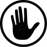 Icona della mano di vettore Fotografia Stock Libera da Diritti