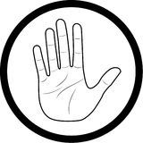 Icona della mano di vettore Fotografie Stock Libere da Diritti