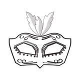Icona della maschera di Mardi Gras Immagini Stock