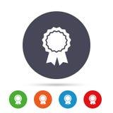 Icona della medaglia del premio Migliore simbolo di garanzia Fotografia Stock