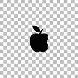 Icona della mela del morso pianamente royalty illustrazione gratis