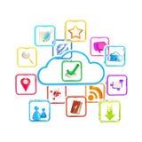 Icona della memoria di applicazione di tecnologia della nube royalty illustrazione gratis