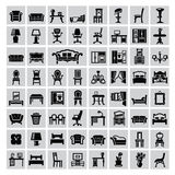 Icona della mobilia Fotografia Stock