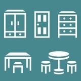 Icona della mobilia di vettore Immagini Stock Libere da Diritti