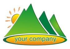 Icona della montagna Immagine Stock