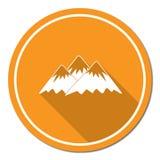 Icona della montagna Illustrazione di concetto di vettore Fotografia Stock Libera da Diritti