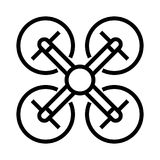 Icona della mosca del fuco illustrazione vettoriale