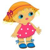 Icona della neonata. illustrazione del bambino del fumetto Fotografia Stock