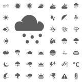 Icona della neve e della nuvola Icone di vettore del tempo messe Fotografie Stock