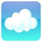 Icona della nube Fotografia Stock Libera da Diritti