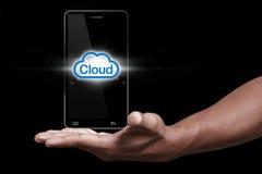 Icona della nube Fotografie Stock