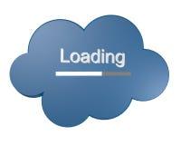 Icona della nube con il testo di caricamento Fotografia Stock Libera da Diritti