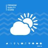 Icona della nuvola di Sun Fotografie Stock