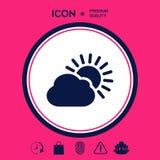 Icona della nuvola di Sun Fotografia Stock