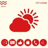 Icona della nuvola di Sun Immagine Stock Libera da Diritti