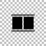 Icona della pagina di film pianamente illustrazione di stock