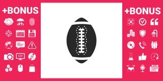 Icona della palla di football americano Fotografia Stock