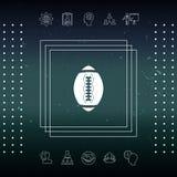 Icona della palla di football americano Fotografie Stock