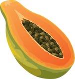Icona della papaia Fotografia Stock