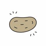 Icona della patata Immagini Stock Libere da Diritti