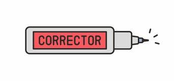 Icona della penna del correttore Fotografie Stock Libere da Diritti