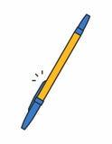 Icona della penna a sfera Fotografia Stock Libera da Diritti