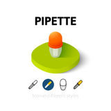 Icona della pipetta nello stile differente immagini stock
