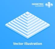 Icona della piramide Composizione geometrica illustrazione vettoriale