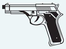 Icona della pistola Immagine Stock