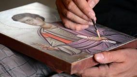 Icona della pittura dell'artista video d archivio