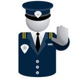 Icona della polizia di sicurezza Fotografie Stock