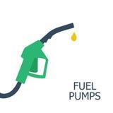 Icona della pompa della benzina Segno della stazione di servizio Fondo del combustibile Illustrazione di vettore, Fotografia Stock Libera da Diritti