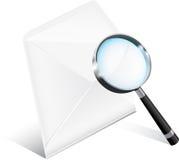 Icona della posta di affari Immagini Stock