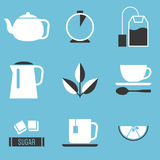 Icona della preparazione del tè Fotografia Stock