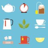 Icona della preparazione del tè Immagini Stock