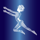 Icona della ragazza di dancing Immagine Stock Libera da Diritti
