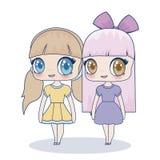 Icona della ragazza di Kawaii royalty illustrazione gratis