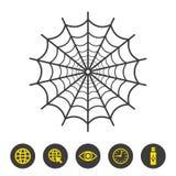 Icona della ragnatela su fondo bianco royalty illustrazione gratis