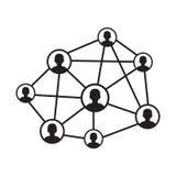 Icona della rete della gente royalty illustrazione gratis