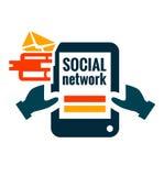 Icona della rete sociale Fotografie Stock