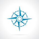 Icona della rosa dei venti Fotografie Stock