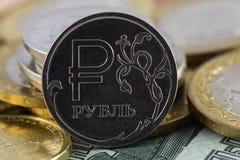 Icona della rublo Fotografia Stock