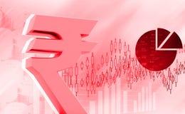 Icona della rupia indiana Fotografia Stock