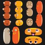 Icona della salsiccia Immagine Stock