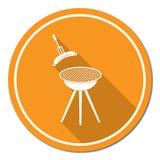 Icona della salsiccia del barbecue Fotografia Stock Libera da Diritti