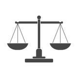 Icona della scala della giustizia Fotografia Stock Libera da Diritti