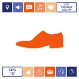 Icona della scarpa del ` s degli uomini Voce di menu nel web design Fotografia Stock