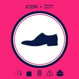 Icona della scarpa del ` s degli uomini Voce di menu nel web design Immagine Stock Libera da Diritti