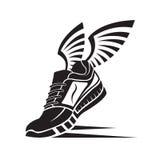 Icona della scarpa di sport Fotografia Stock