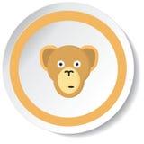 Icona della scimmia Immagini Stock